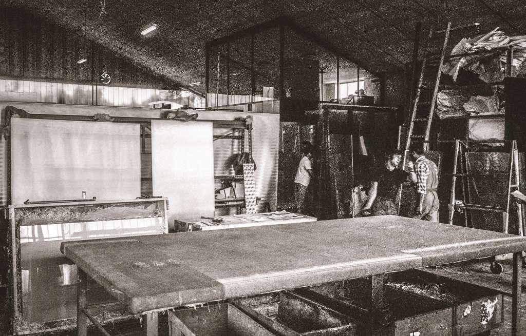 Vetreria Aurelia interno laboratorio 1968